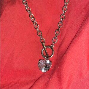 avon big heart link necklace